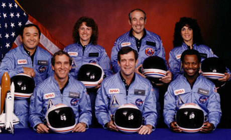 Challenger crew of mission 51-L
