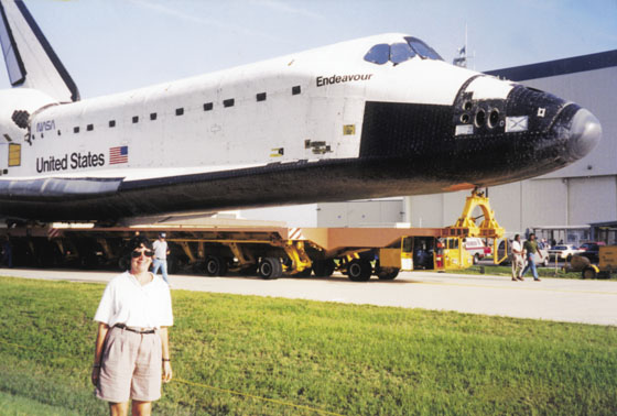 Gail at Endeavour rollout